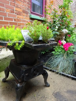 Wood Stove planter Buffalo