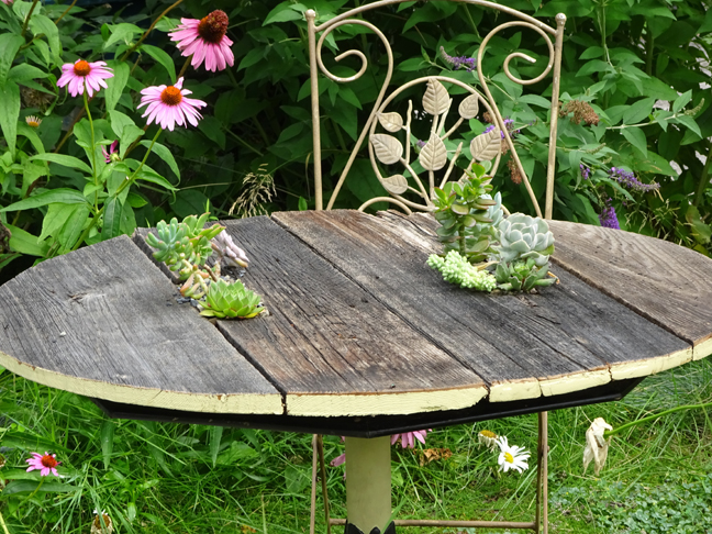 Table rotting through? No problem, make it into a planter