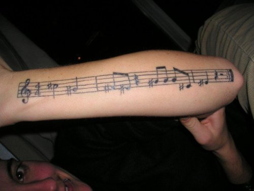 Another of Amy's tattoos. I believe it's part of a song by DiFranco or The