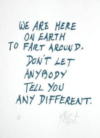 My meaning of life. juliasegal:  biorhythmist: (via anderrhea:duckandpenguin) Kurt Vonnegut for life playa.