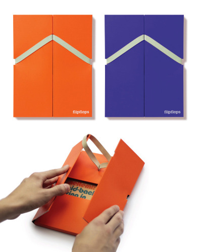 Flip Flops, identity and marketing material for a new development of holiday accommodation in Turkey, designed by Music (via Looks Like Good Design)