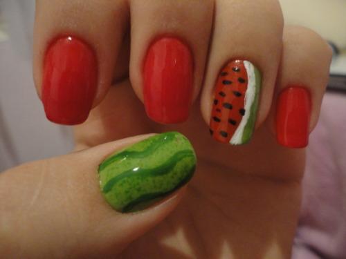 ilovemynails:  Watermelon :D