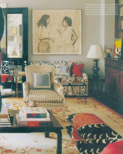 Kate Spade's Apartment via The Decorista