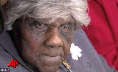 "Daughter of Slaves Won't Be Recognized as Oldest Woman. Rebecca Lanier celebrated her 119th birthday this week. Born to  parents who were former slaves, she believes she's the oldest person in  the world, and her family has documentation to back up the claim, in the  form of a letter from the Social Security Administration. But the U.K.'s Daily Mail reports that because she was born in the  1890s, when it was commonplace for African-American babies not to be  issued birth certificates, she doesn't have the documentation Guinness  World Records requires to be honored for her record-setting life. So  they refuse to acknowledge her. Lanier has witnessed more than 20 presidents and lived through two  world wars. She's outlived her husband and daughters. And after all  this, she's still suffering residual effects of the racial inequality  that existed more than a century ago, when she was born. ""It's quite a rigorous process that you go through because the birth  certificate is a crucial matter,"" a Guinness World Records spokesman  told MailOnline, explaining why Lanier's age won't be recognized."