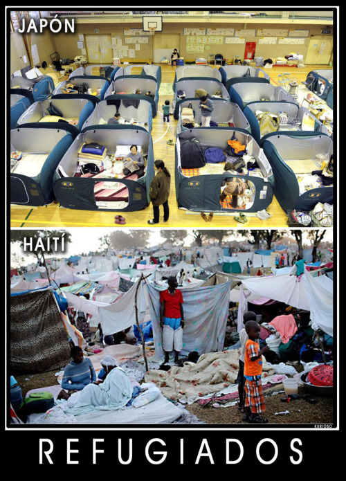 Situación de refugiados Japón-Haití