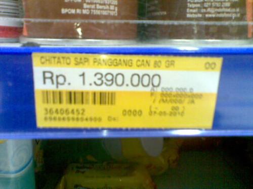 """Snack termahal di Indonesia… Lokasi: """"Pasar Hyper"""" @Marinaindria"""