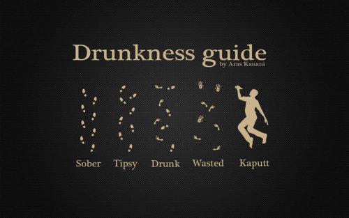 Pegadas de bêbado. Vi no Porra Grafico americano. (mentira, eu que sou o GraphJam brasileiro)