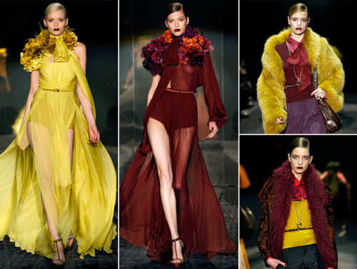 McDonald's uniforms as reinterpreted by the fall 2011 runways. Or, IMPORTANT.
