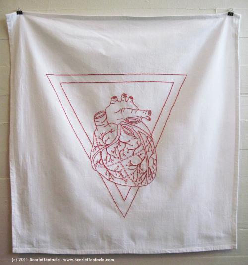 Kira Scarlet redwork embroidery art for Lyon Martin and Femina Potens