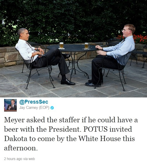 """This x That: Know This: Above: 21-year-old Marine corporal Dakota Meyer, who is set to receive the Medal of Honor tomorrow, had one request for the staffer who called him in preparation for tomorrow's ceremony: To arrange for him to have a beer with the President. President Obama's 2012 campaign team launches anti-smear site called Attack Watch. RIP: John Calley, noted Hollywood exec and producer of many well-known films, dead at 81. Read This: Academics offer $11,000 for proof that a girl actually suffered mental retardation as a result of an HPV vaccine, as Michele Bachmann claims. Follow Up: Girl who beat up transgender woman at Rosedale McDonald's receives five-year sentence. Justice Ruth Bader Ginsburg forced to slide down emergency chute after evacuation ordered on her United Airlines flight. JK Rowling set to give evidence at phone-hacking inquiry. Jonah Hill describes Brad Pitt as """"the Bobby Fischer of pranks."""" White House crasher Tareq Salahi thought his wife Michaele had been kidnapped, but it turns out she just ran away with Neal Schon from Journey. Whoops! The Other: NewsFeed: Shirley the Smoking Orangutan Forced to Kick Her Habit. Tea x Time List: 10 Famous Elephants and Their Bizarre Deaths."""