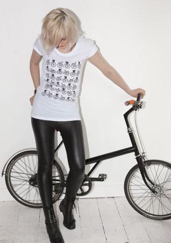 charikichi:<br /><br /> Girls Bicycles T-shirt White