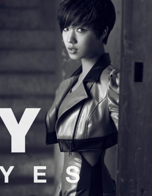 ccmgogo:  Hwayoung : Black Eyes Album Jacket