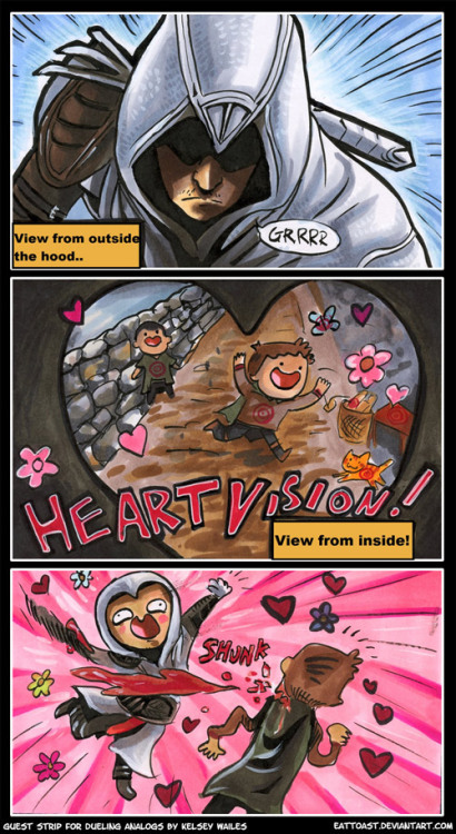 Heart Vision by Kelsey Wailes ForDueling Analogs, well that explains so much really. Ezio is a lover, after all. Artist:deviantart/facebook/twitter