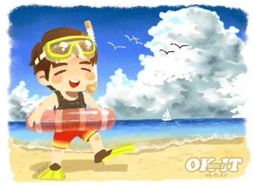okitok:</p> <p>in Junsuya mini calender / Go on vacation! (SUMMER)<br />