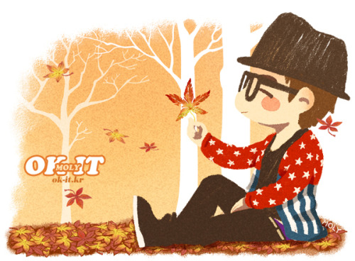 okitok:</p> <p>in Junsuya mini calender / fallen leaves (FALL)<br />