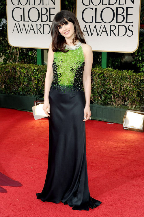 Zoey Deschanel in Prada #GoldenGlobes 2012<br /><br /><br /><br /><br /><br />