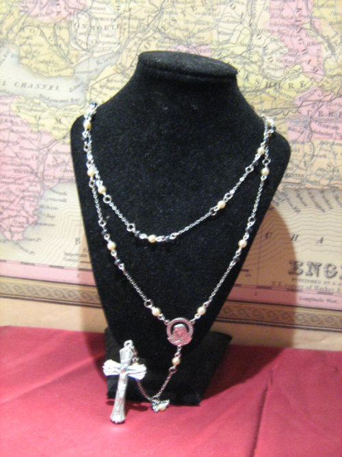 black and white rosary