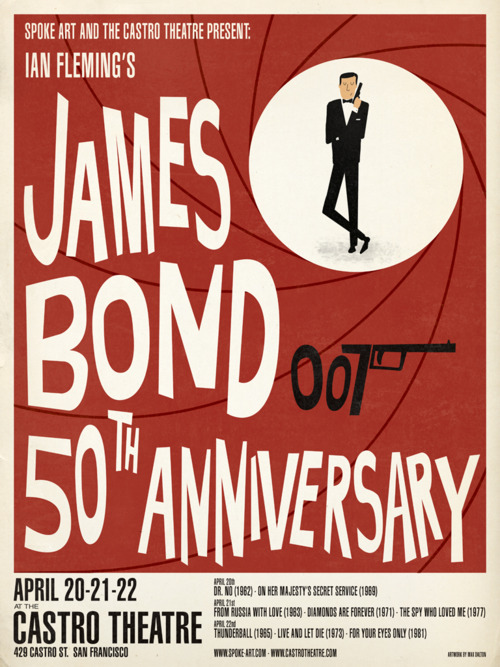 Limited Edition James Bond Posters by Max Dalton Spoke Art has a…