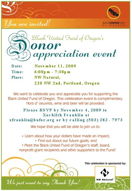 Donor Recognition Event