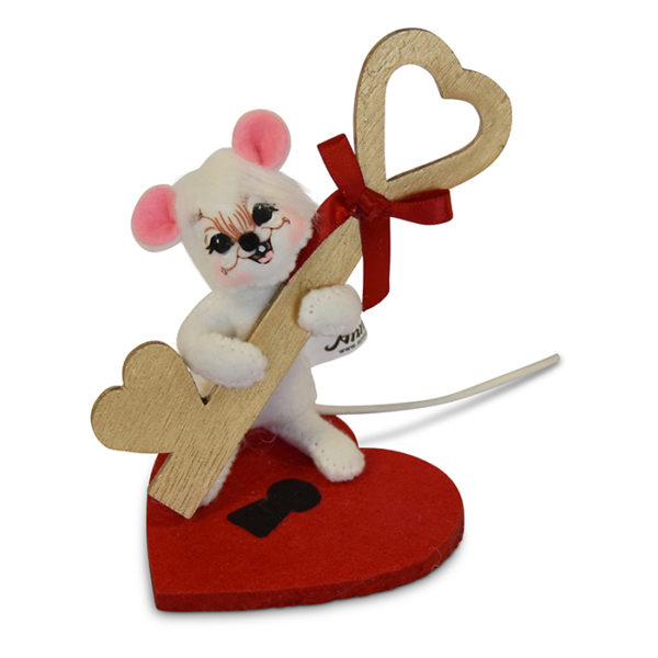 3in Key To My Heart Mouse Annalee Dolls