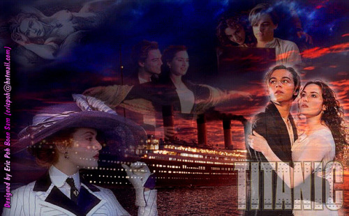 Titanic photo collage
