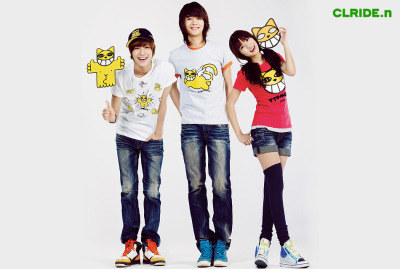 with SHINee's Taemin & Minho for CLRIDE.n