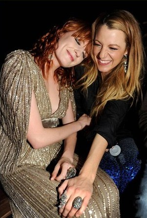 allthedaysordained:  Florence Welch and Blake Lively