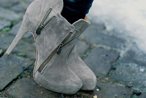 boots, suede, heels, ankle booties
