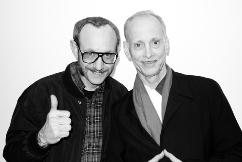 Me and John Waters at the opening of the Ed Ruscha show.