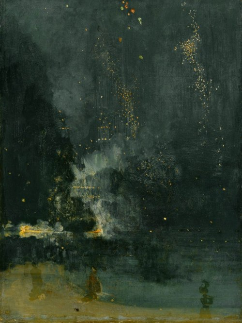 clnhll:James Whistler: Nocturne in Black and Gold