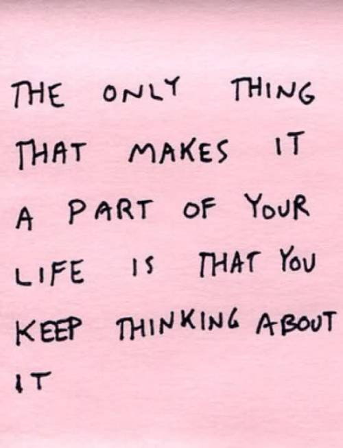 The only thing...