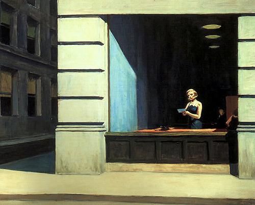 interwar:  New York Office Oil on canvas Edward Hopper, 1962