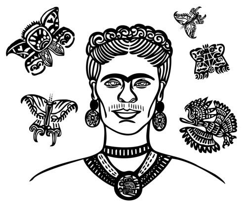 Frida Kahlo illustration by Scarlet Tentacle