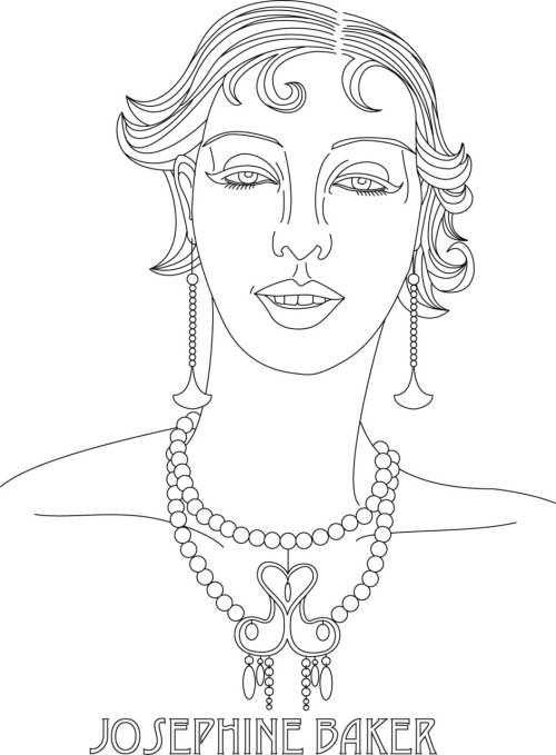 Josephine Baker Free Hand Embroidery Pattern