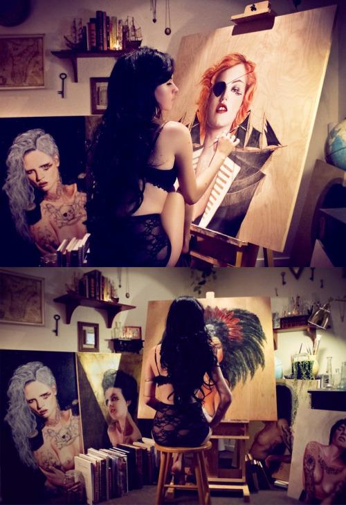 Ms.Olivia has extreme artist swag.