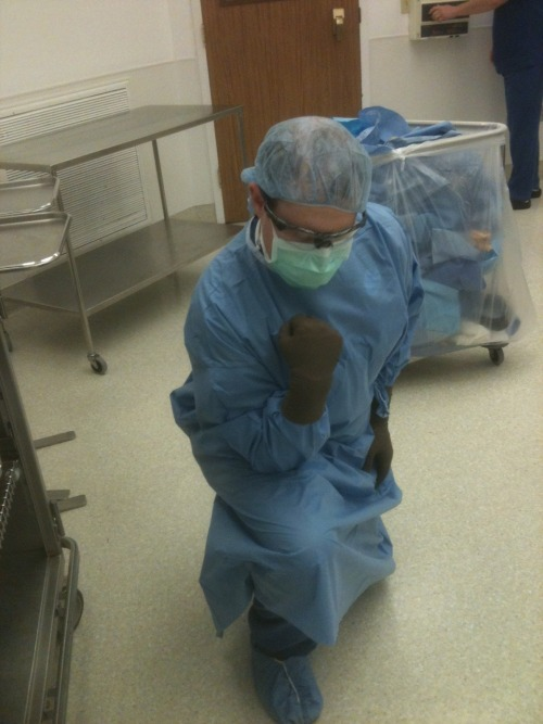 Operating Room Tebowing