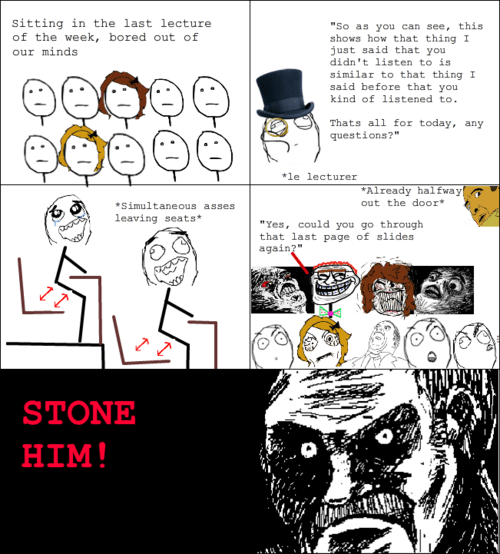 Troll Face Comic - End of lecture troll