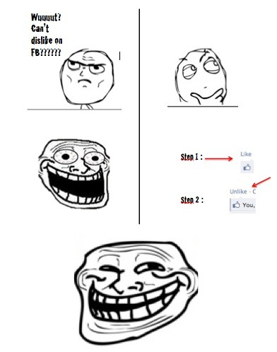 Trollface - How to dislike a Facebook comment  Submitted by Bob