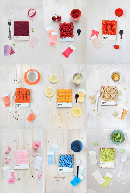 So this is how designers eat their breakfast: Pantone tarts!