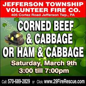 Corn Beef / Ham & Cabbage Dinner @ Jefferson Township Fire Company | Mount Cobb | Pennsylvania | United States