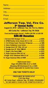 Sportsmen's Raffle @ Jefferson Township Fire Company | Mount Cobb | Pennsylvania | United States