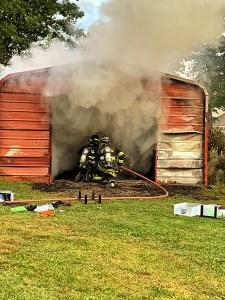Late Afternoon Weekend Garage Fire