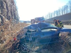 Driver Walks Away from Violent Interstate Crash