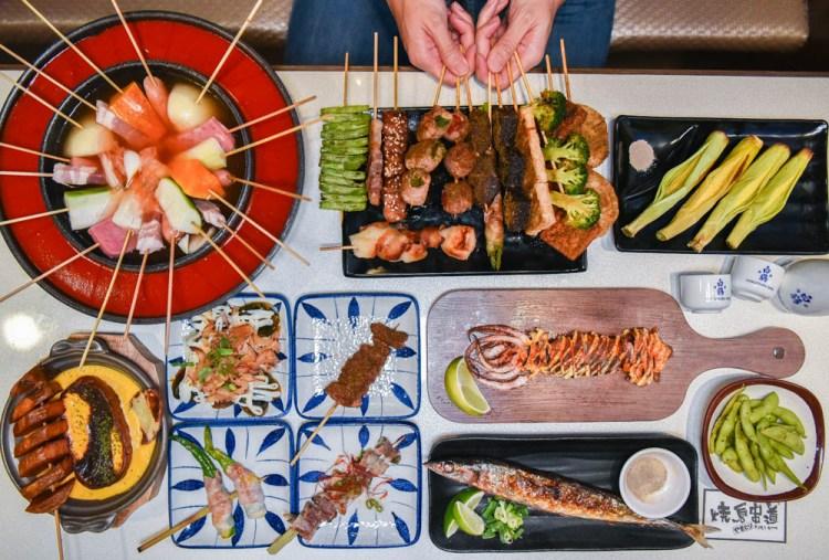 燒鳥串道向上北店:台中西區美食-茶泡飯吃到飽的銅板價日式串燒居酒屋,特定時段消費滿六百送生啤酒!