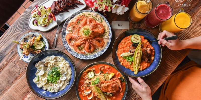 HUN貳:台中西屯區美食-鄰近逢甲大學的平價義大利麵早午餐,份量十足加麵還免費!