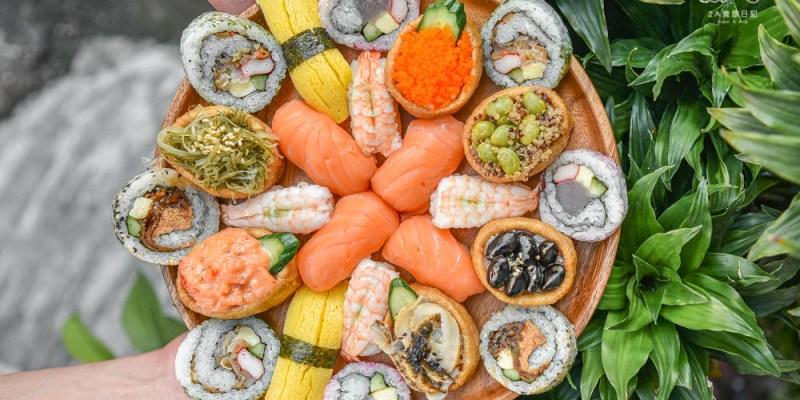 奕米捲壽司精誠店:台中西區美食-超過50種的20元起平價壽司,鄰近向上市場還有芋頭口味的花壽司!