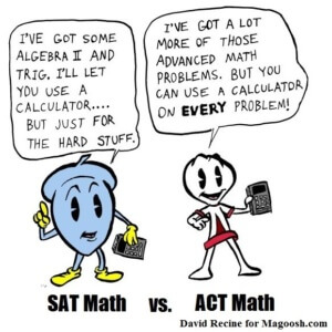 ACT vs SAT Math Section-magoosh