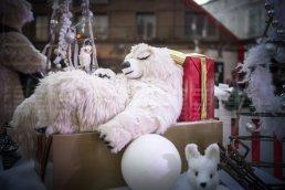 Animaux automates dans les vitrines de Noël de Rouen