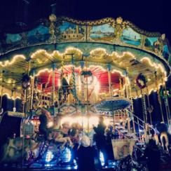 Manège du marché de Noël de Rouen