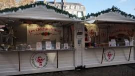 Chalet de chichis de Noël sur les marché de Nantes
